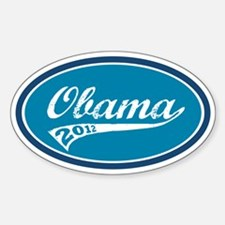 Obama Retro Blue Decal