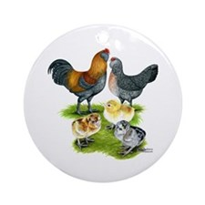 Ameraucana Chicken Family Ornament (Round)