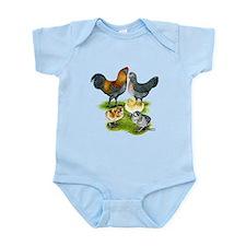 Ameraucana Chicken Family Infant Bodysuit