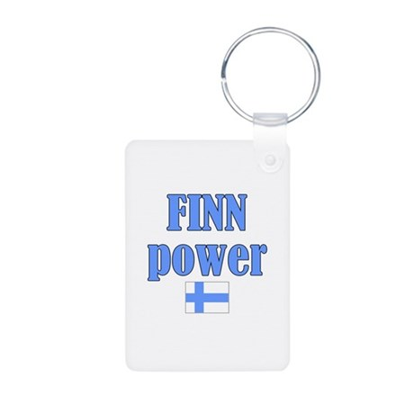 Finnish Power Gifts Aluminum Photo Keychain