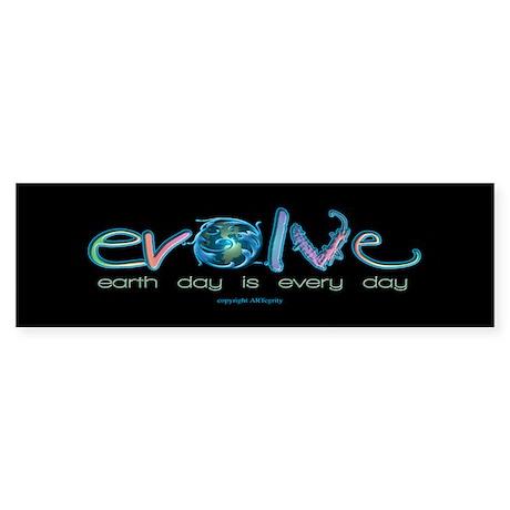 Evolve Every Day Bumper Sticker