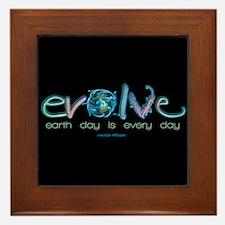 Evolve Every Day Framed Tile