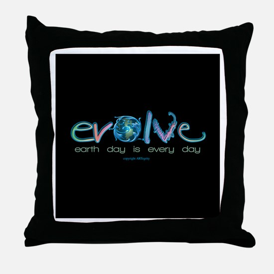 Evolve Every Day Throw Pillow