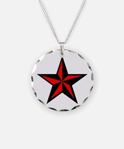 Punk Rock Red Nautical Star Necklace