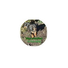 Play in the Dirt Dachshund Dog Mini Button