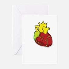 Human Heart Greeting Cards (Pk of 10)