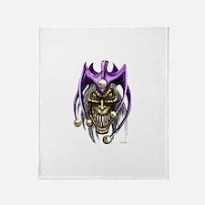 Evil Jester Skull Punk Throw Blanket