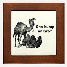 Funny Camels Framed Tile