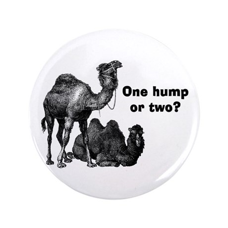"Funny Camels 3.5"" Button"