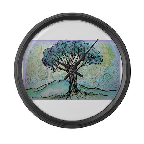 Tree! Tree of Life, Art! Large Wall Clock