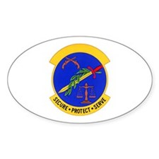 2853d Security Police Oval Decal