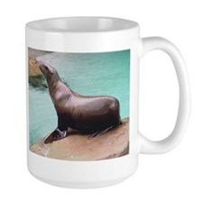 Sea Lion on Rock Mug