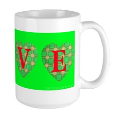 LOVE Plaid Hearts in Sweet Li Mug