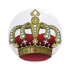Royal Crown Ornament (Round)