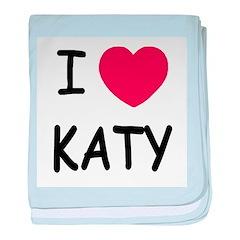 I heart Katy baby blanket