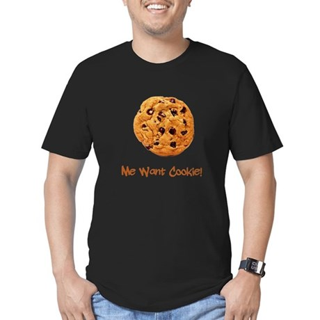 Me Want Cookie Men's Fitted T-Shirt (dark)