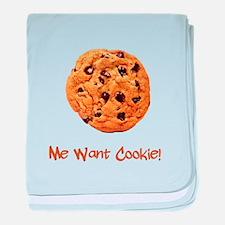 Me Want Cookie baby blanket