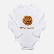 Me Want Cookie Long Sleeve Infant Bodysuit