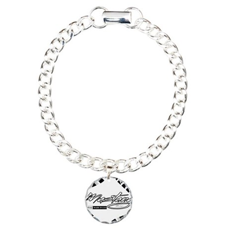 Mustang Tire Charm Bracelet, One Charm