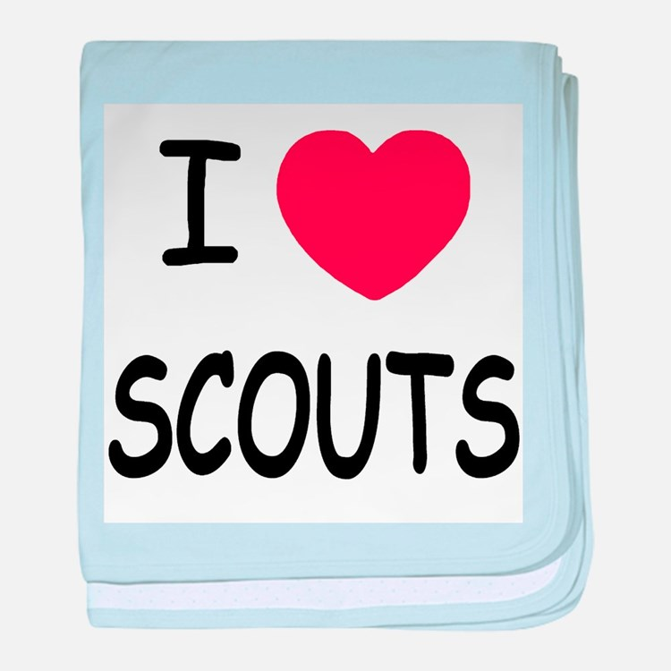 I heart scouts baby blanket