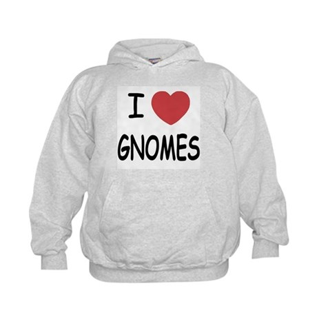 I heart gnomes Kids Hoodie