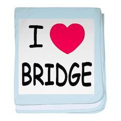 I heart bridge baby blanket