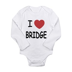 I heart bridge Long Sleeve Infant Bodysuit