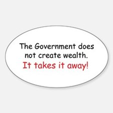 The Government does not creat Sticker (Oval)