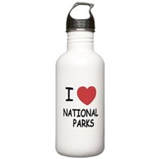 I heart national parks Water Bottle