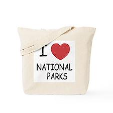 I heart national parks Tote Bag