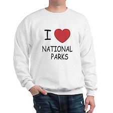 I heart national parks Sweatshirt