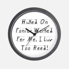 Huked On Fonics Wall Clock