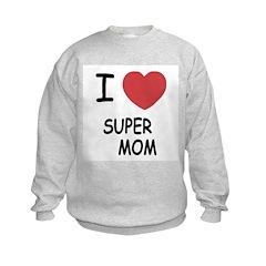 I heart super mom Sweatshirt