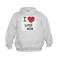 I heart super mom Hoodie
