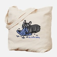 Unique French bulldog pied Tote Bag