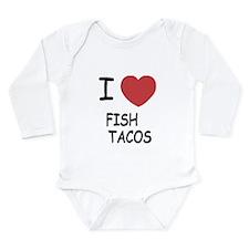 I heart fish tacos Long Sleeve Infant Bodysuit