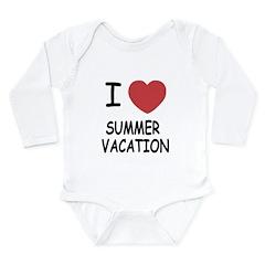 I heart summer vacation Long Sleeve Infant Bodysui