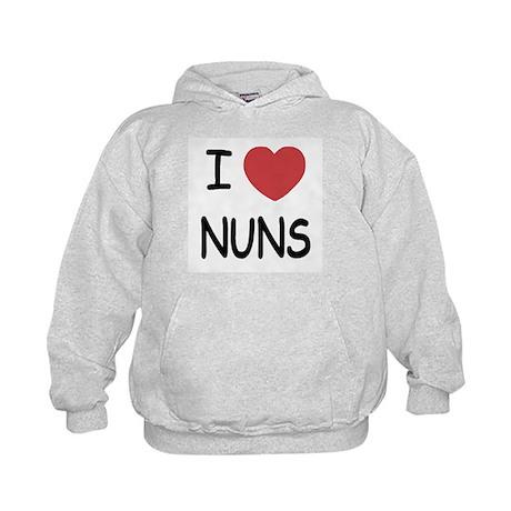 I heart nuns Kids Hoodie