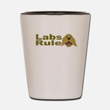 Cute Labrador retrievers rule Shot Glass