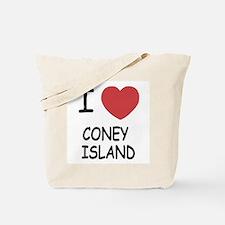 I heart coney island Tote Bag