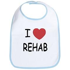 I heart rehab Bib
