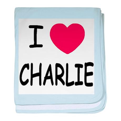 I heart charlie baby blanket