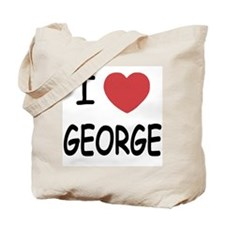 I heart george Tote Bag
