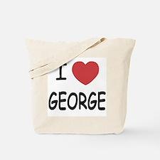 I heart george Tote Bag