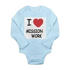I heart mission work Long Sleeve Infant Bodysuit