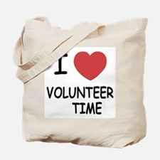 I heart volunteer time Tote Bag