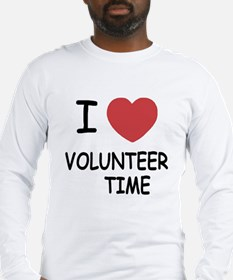 I heart volunteer time Long Sleeve T-Shirt