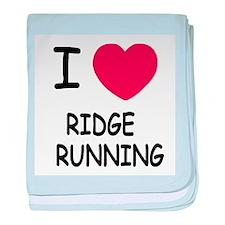 I heart ridge running baby blanket