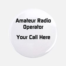 """Personalized Call Sign 3.5"""" Button"""