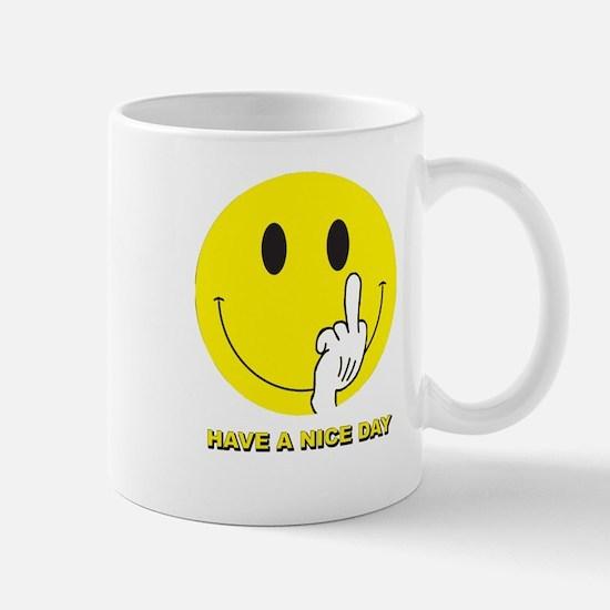 SMILEY-FINGER-HAVE-A-NICE-D Mugs